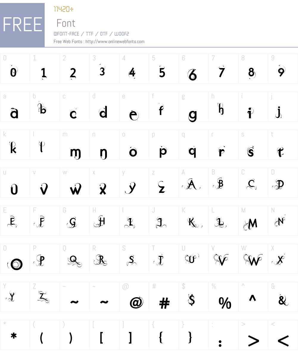 PurissimaBoldW00-C Font Screenshots