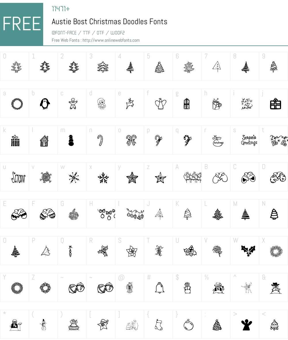 Austie Bost Christmas Doodles Font Screenshots