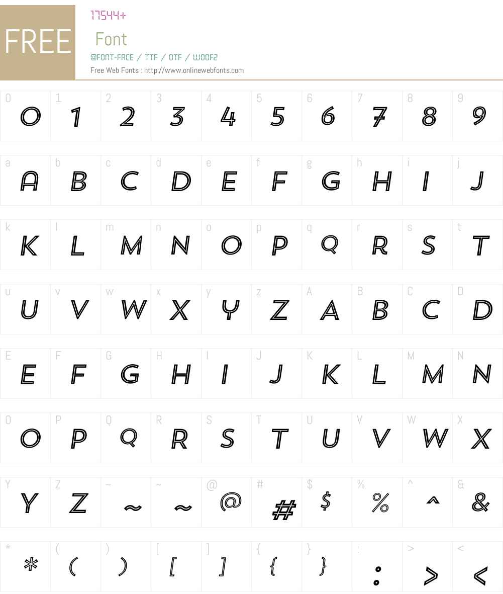 TrendSansW00-FiveItalic Font Screenshots