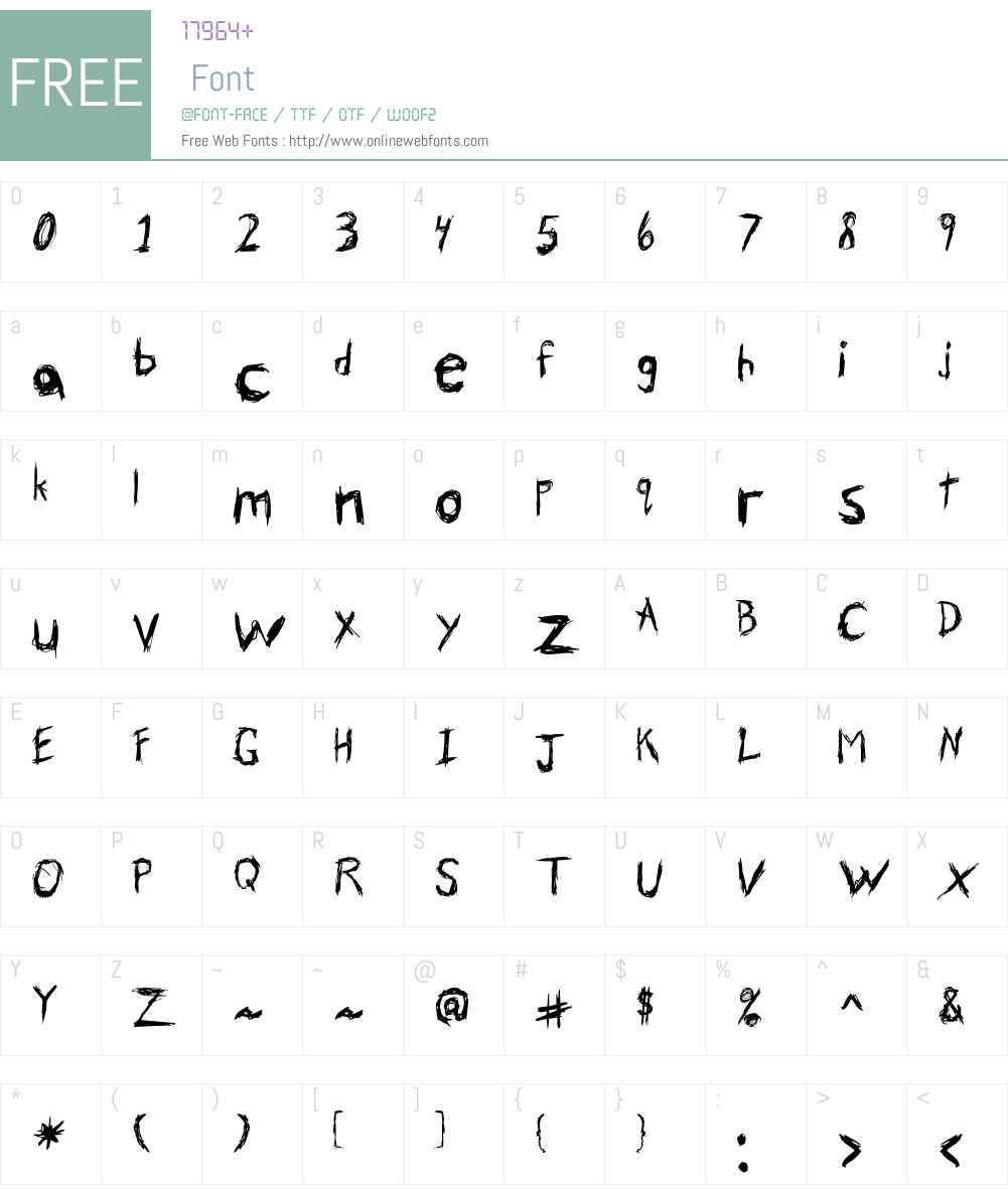 Skribler Font Screenshots
