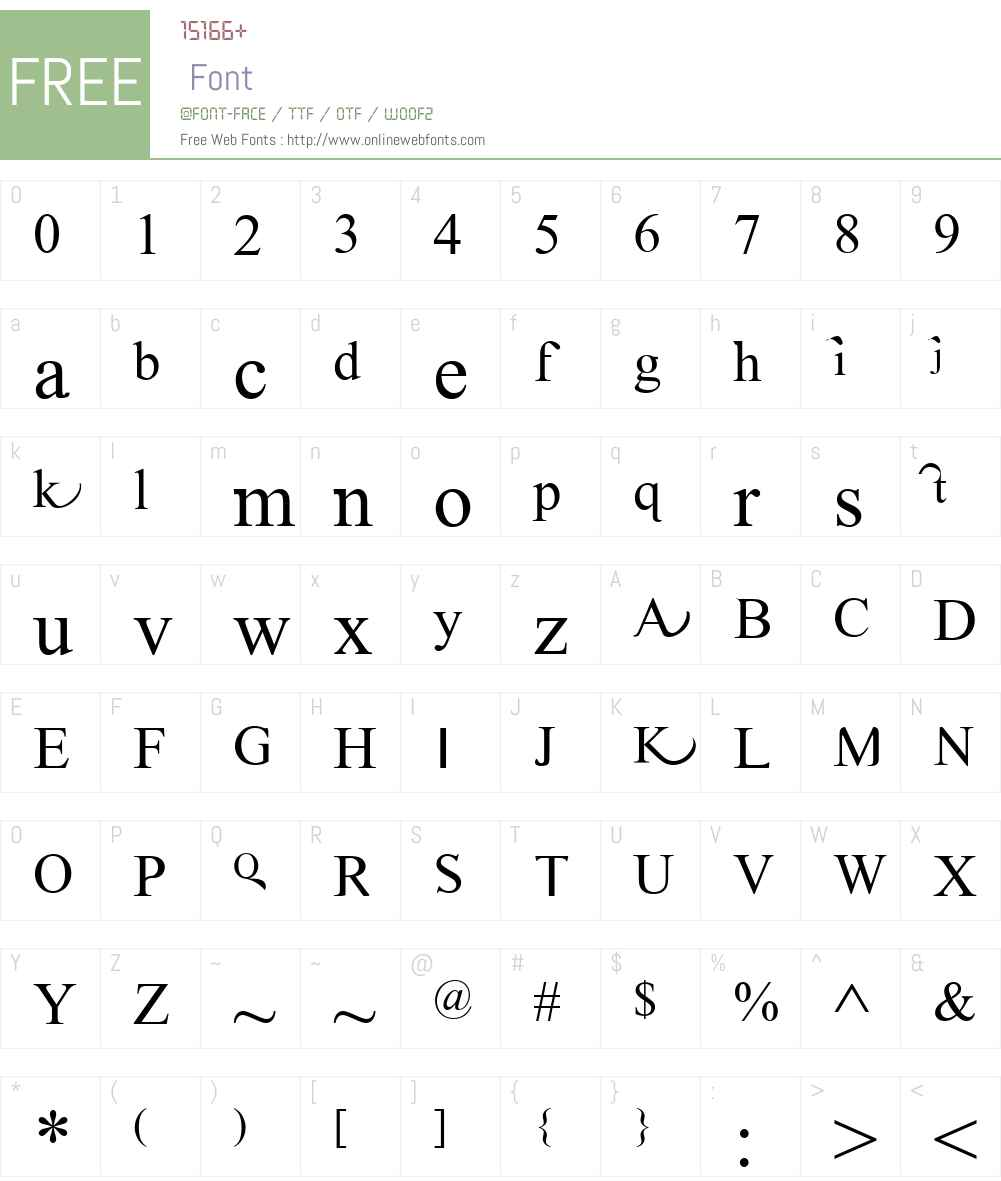 Timoroman Font Screenshots