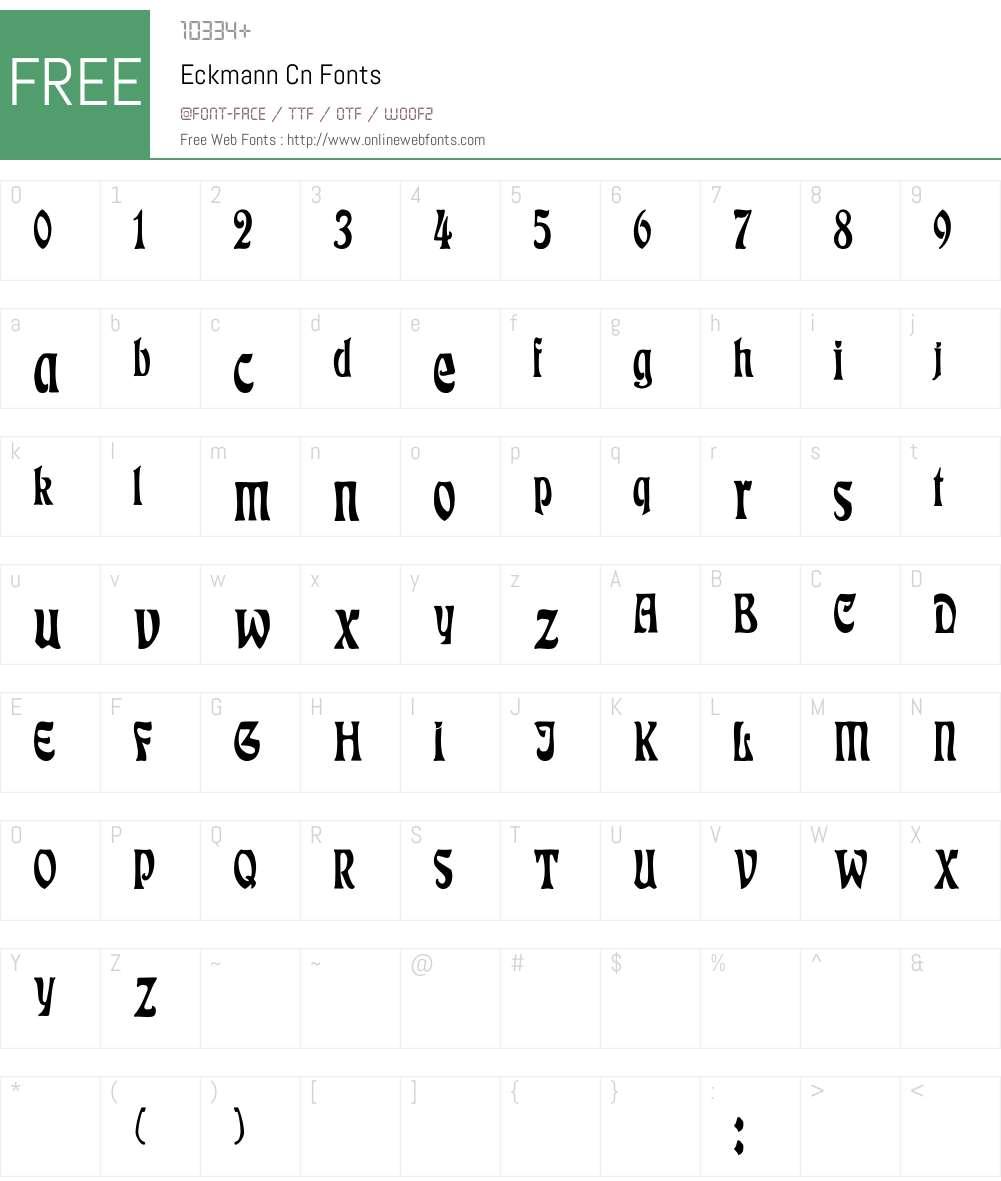 Eckmann Cn Font Screenshots