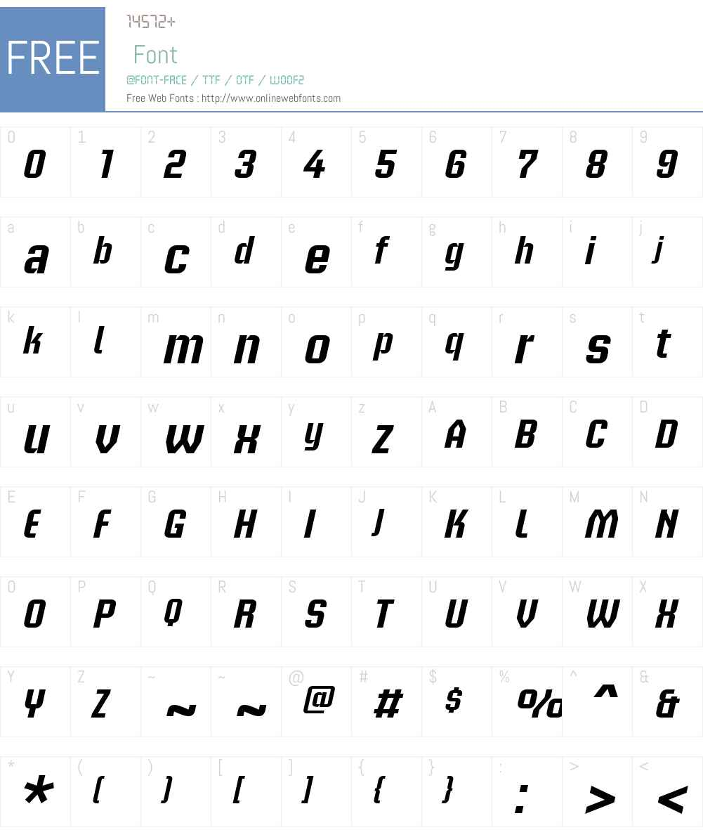 BriemAkademiW00-MediumObl Font Screenshots