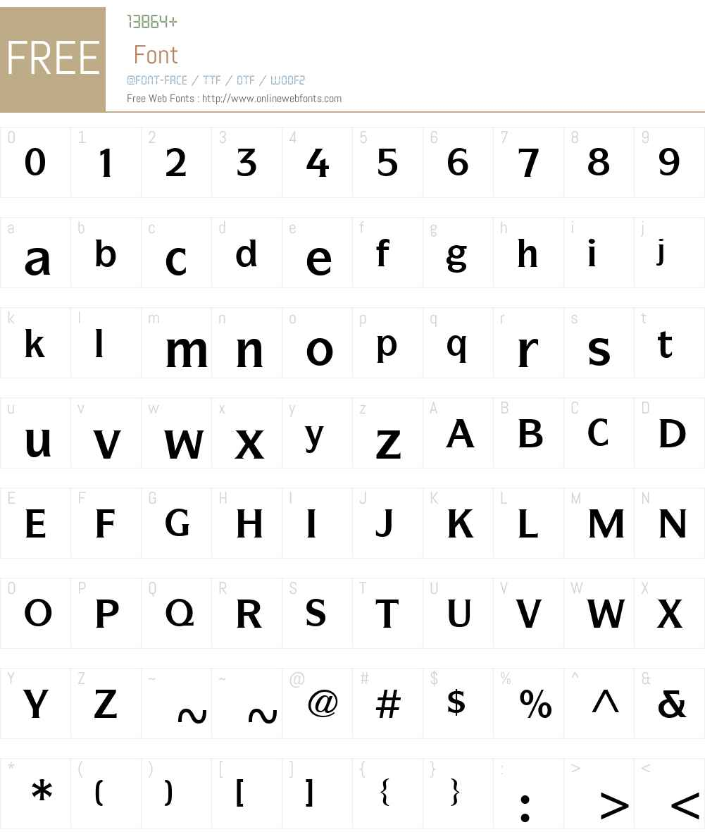 ITCSymbolW01-Bold Font Screenshots