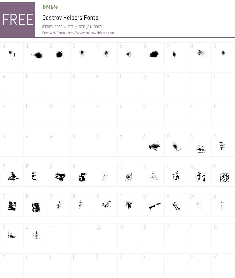 Destroy Helpers Font Screenshots
