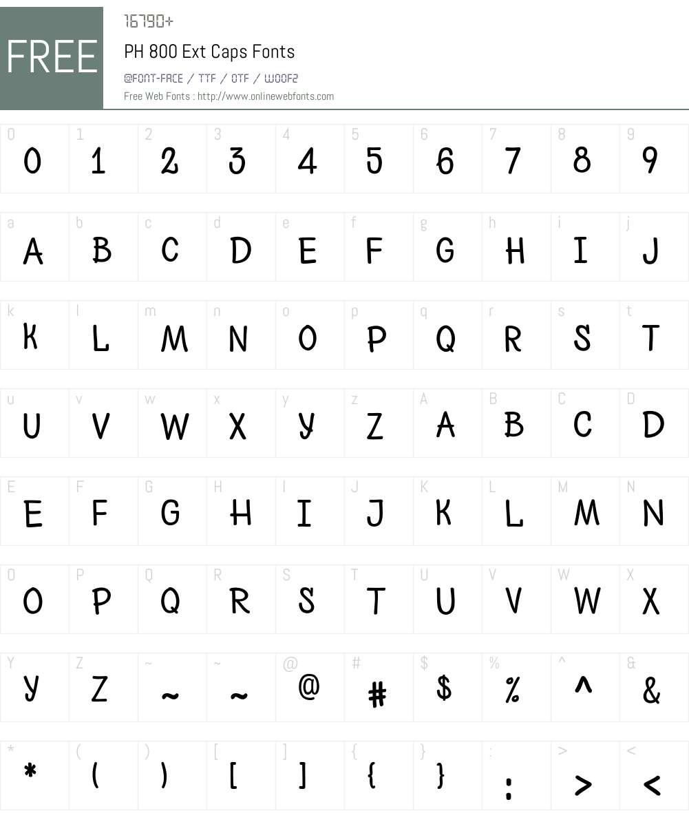PH-800ExtCaps Font Screenshots