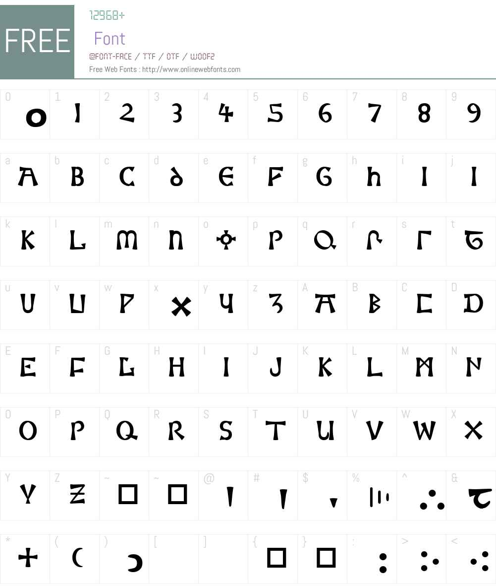 Moneta Font Screenshots