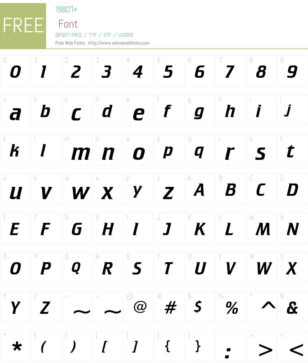 Crillee It BT Font Screenshots
