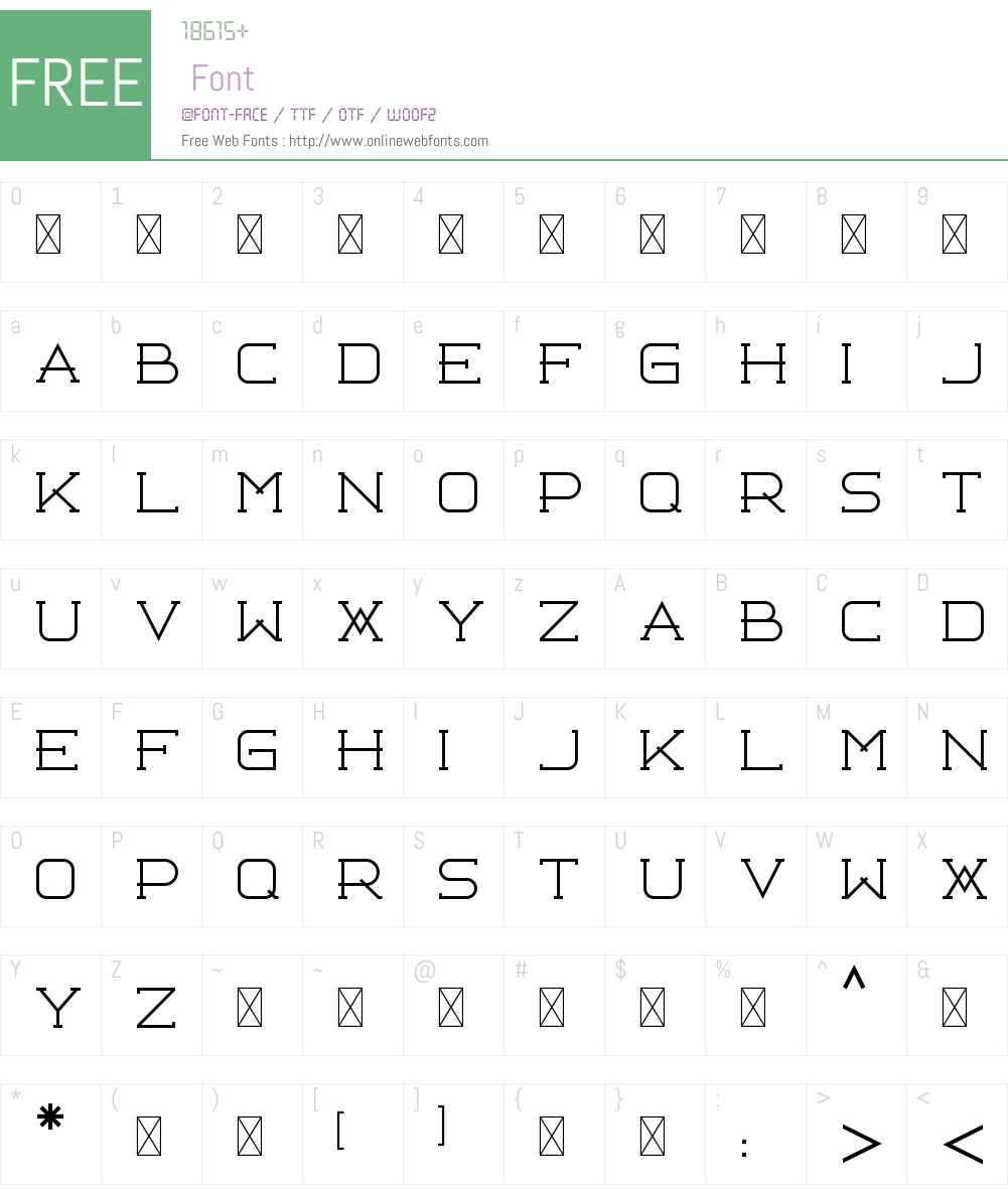 Libercity Thin Font Screenshots