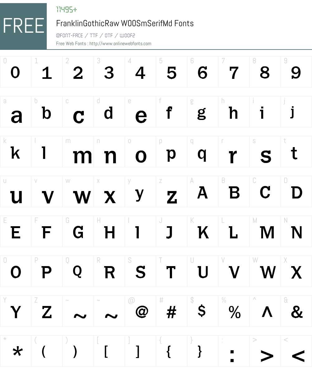 FranklinGothicRawW00-SmSerifMd Font Screenshots
