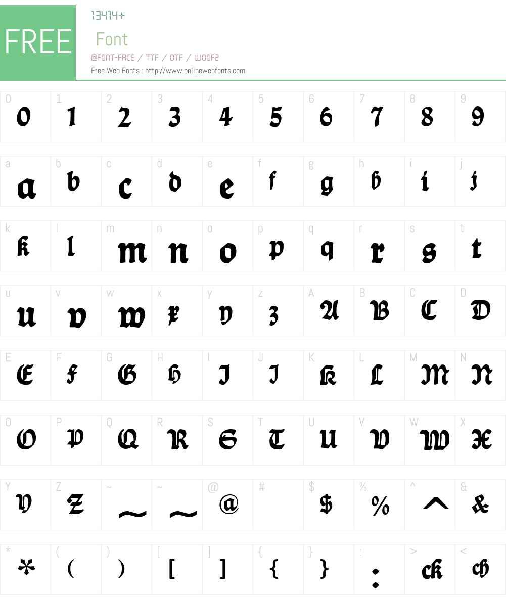 DS Ballade Font Screenshots