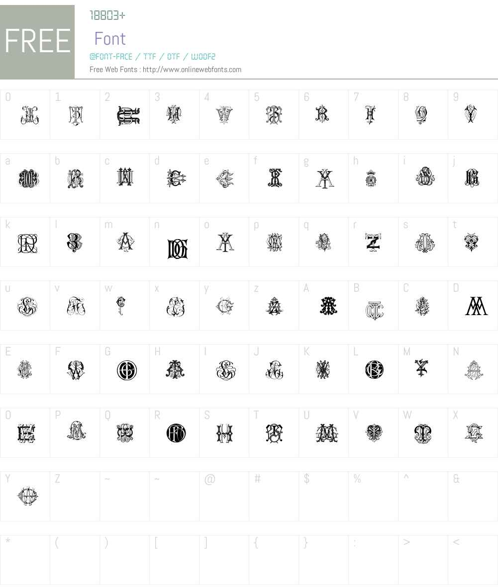 Intellecta Monograms Random Samples Two Font Screenshots