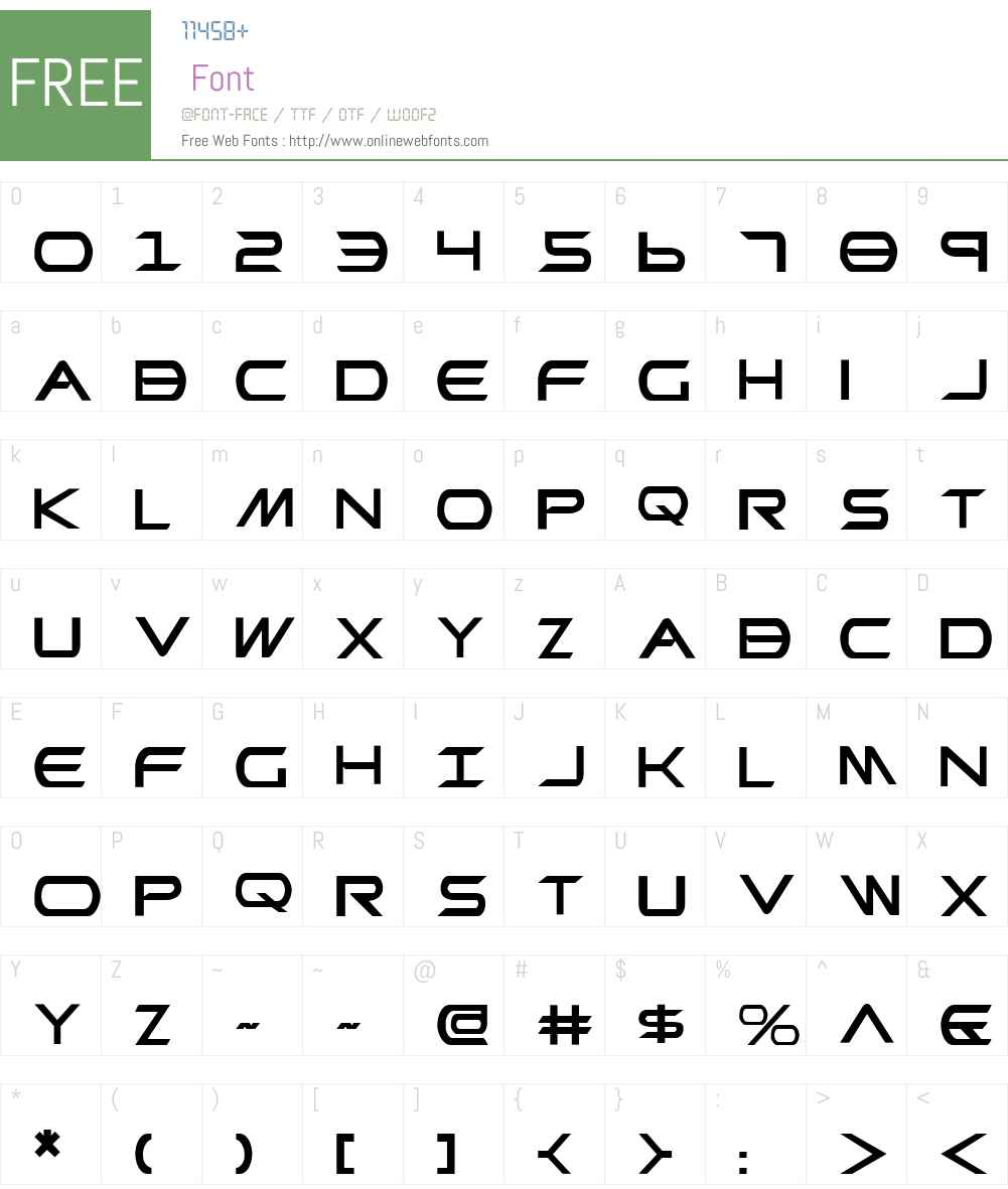 Promethean Font Screenshots