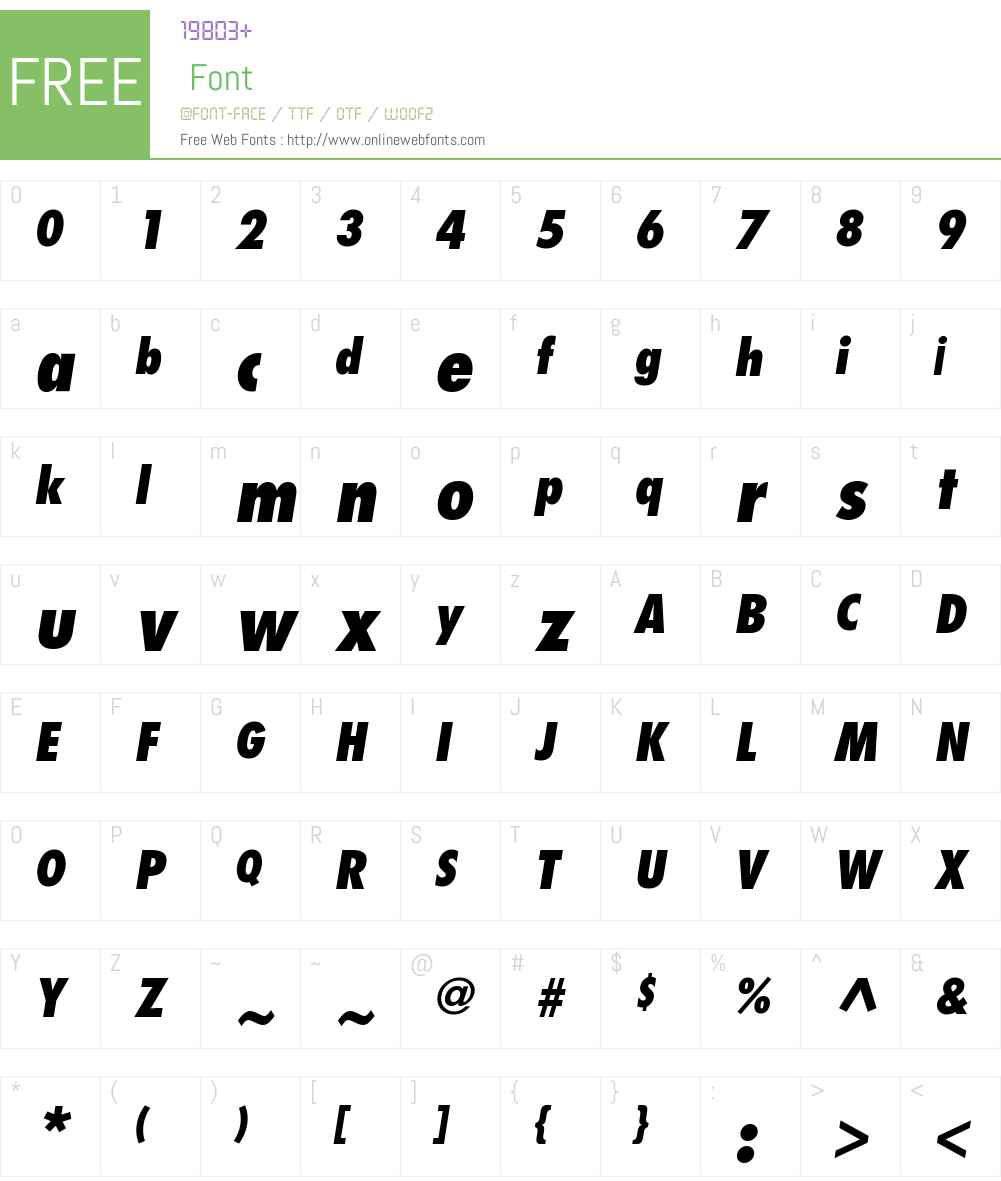 Futura Std Condensed ExtBd Font Screenshots