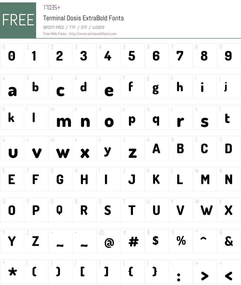 Terminal Dosis Font Screenshots