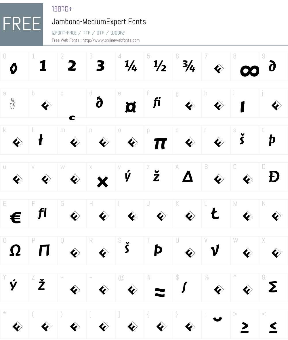 Jambono-MediumExpert Font Screenshots