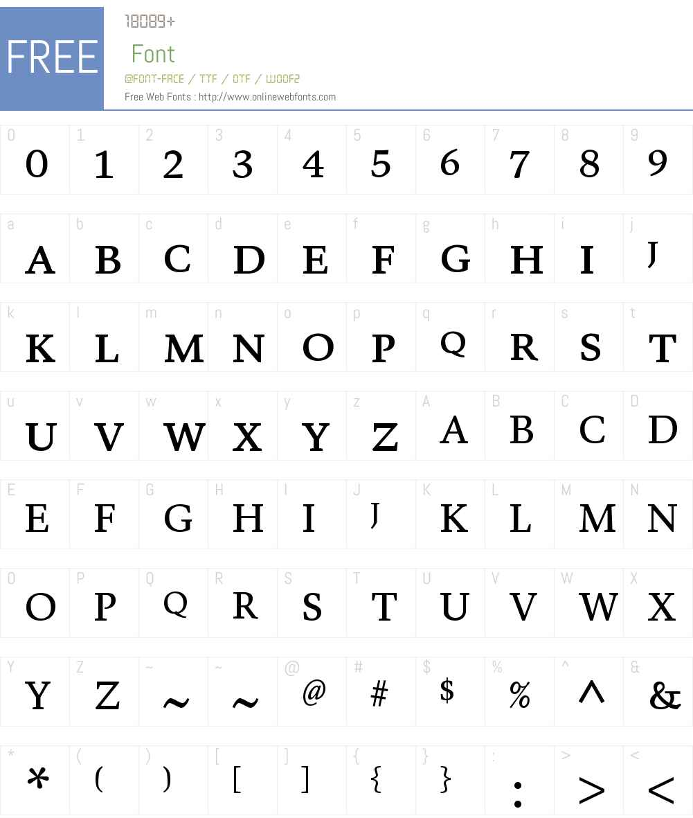 Valkyrie C4 Font Screenshots