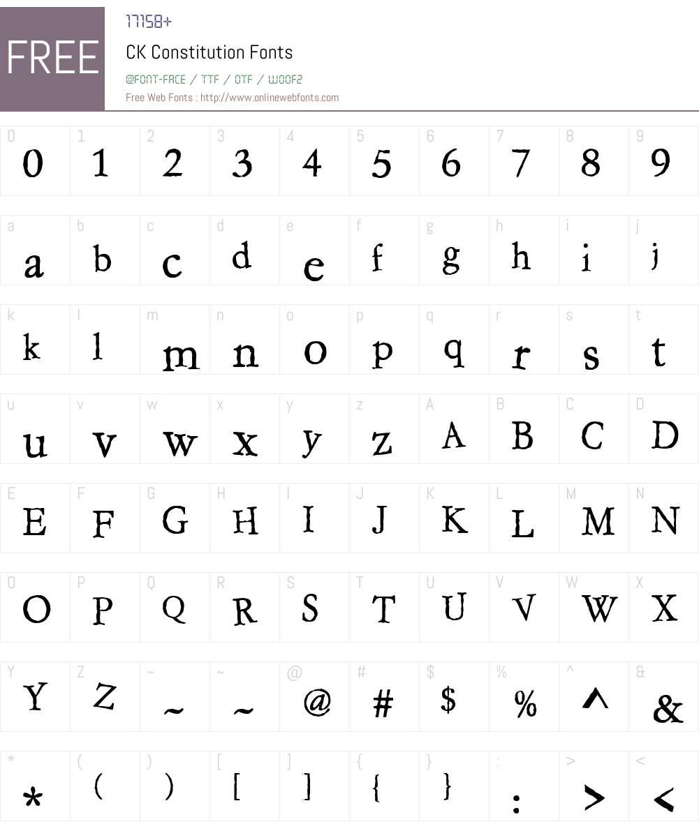 CK Constitution Font Screenshots