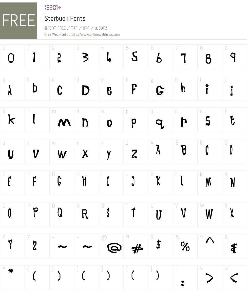 Starbuck Font Screenshots