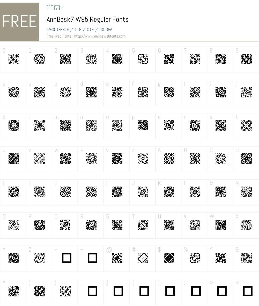 AnnBask7 Font Screenshots