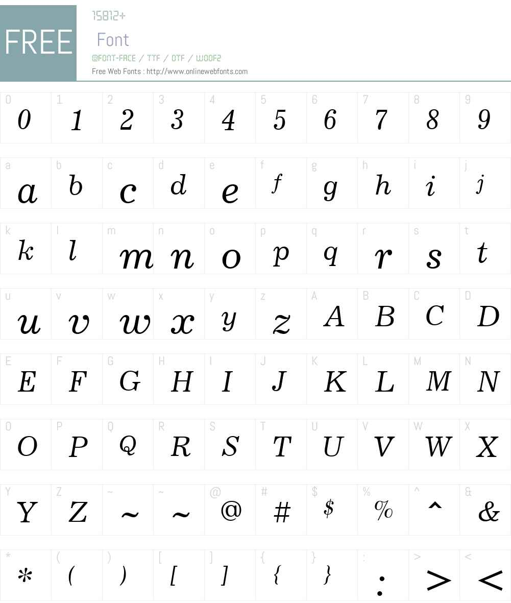 JournalW01-Italic Font Screenshots