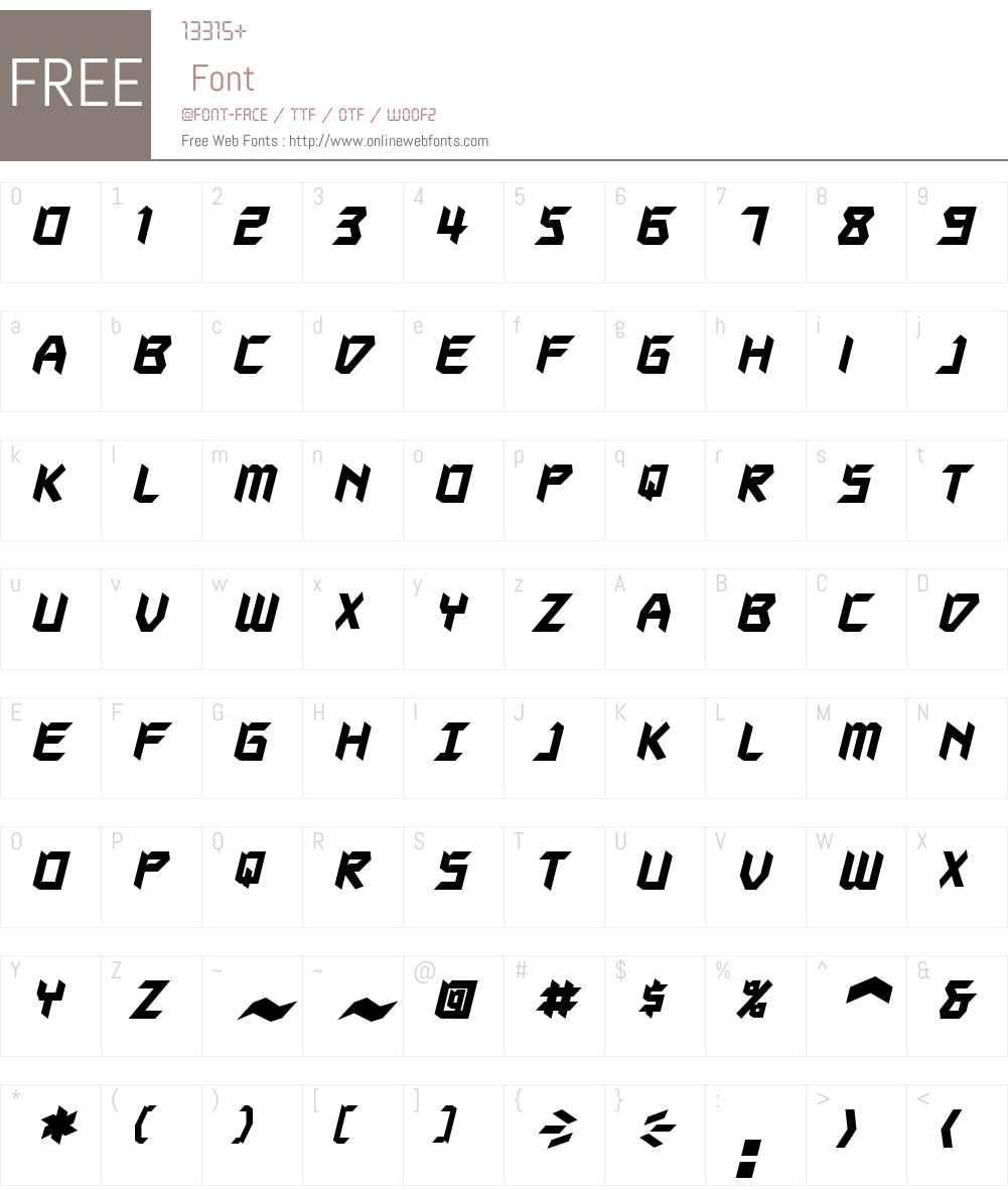 Autodestruct BB Font Screenshots