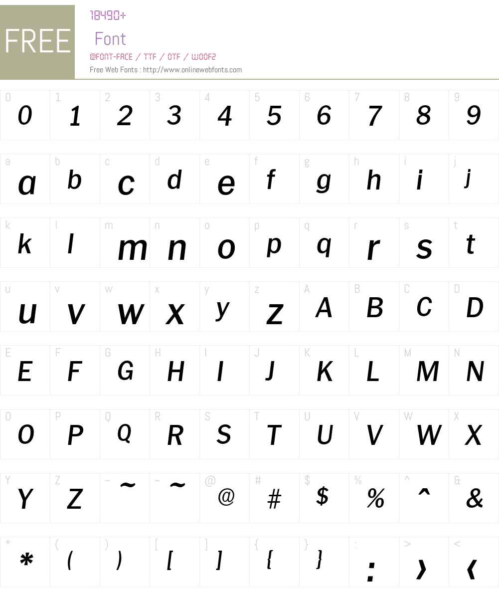 Plymouth-MediumIta Font Screenshots