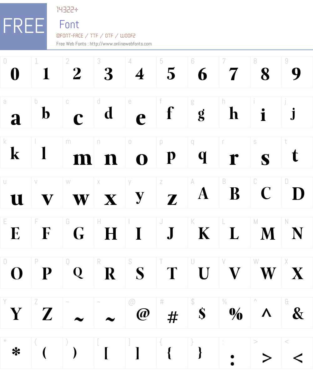 LevatoW01-Black Font Screenshots
