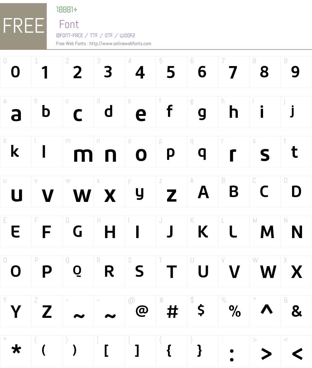 Roihu Font Screenshots