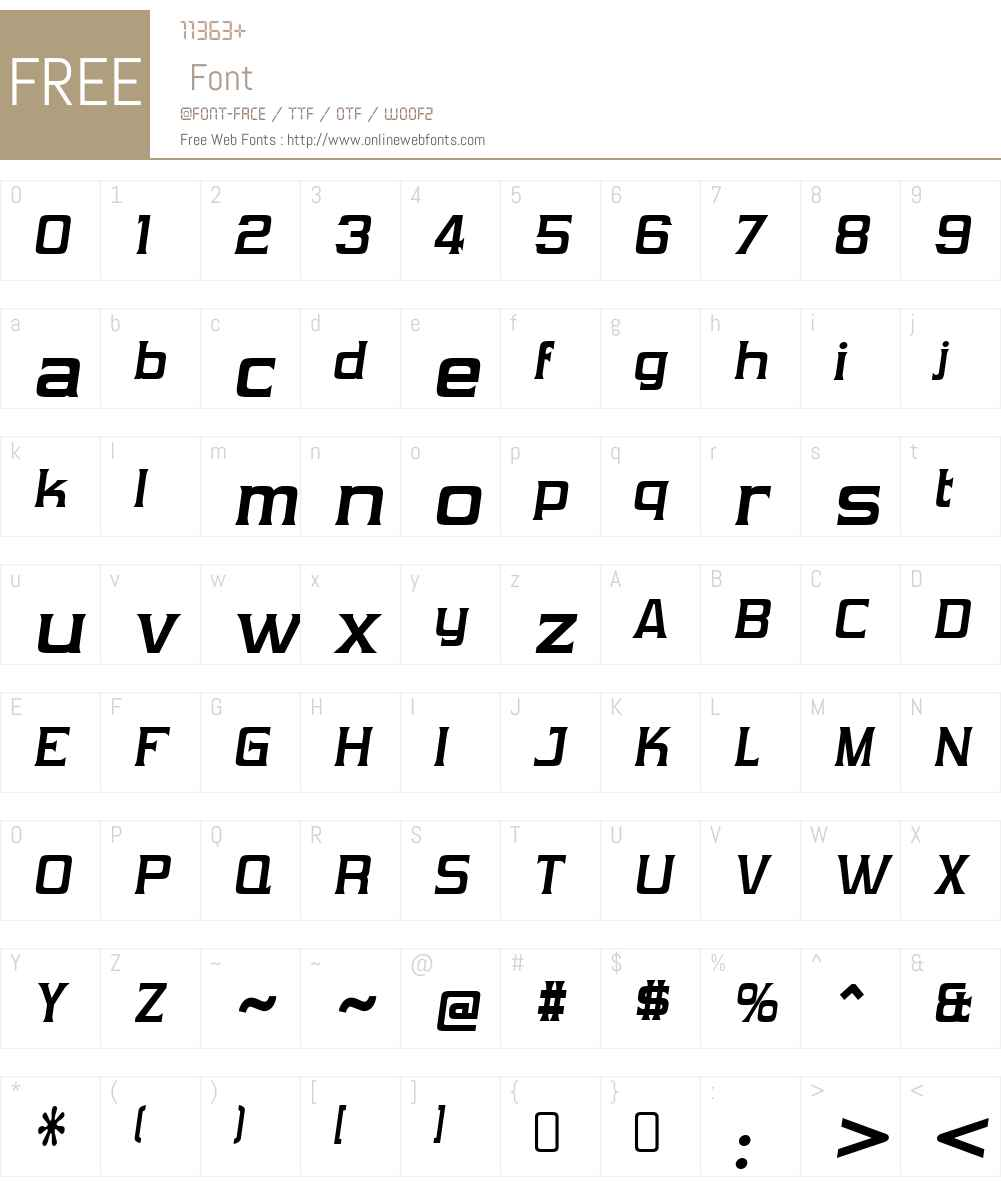 VibrocentricW00-BoldItalic Font Screenshots