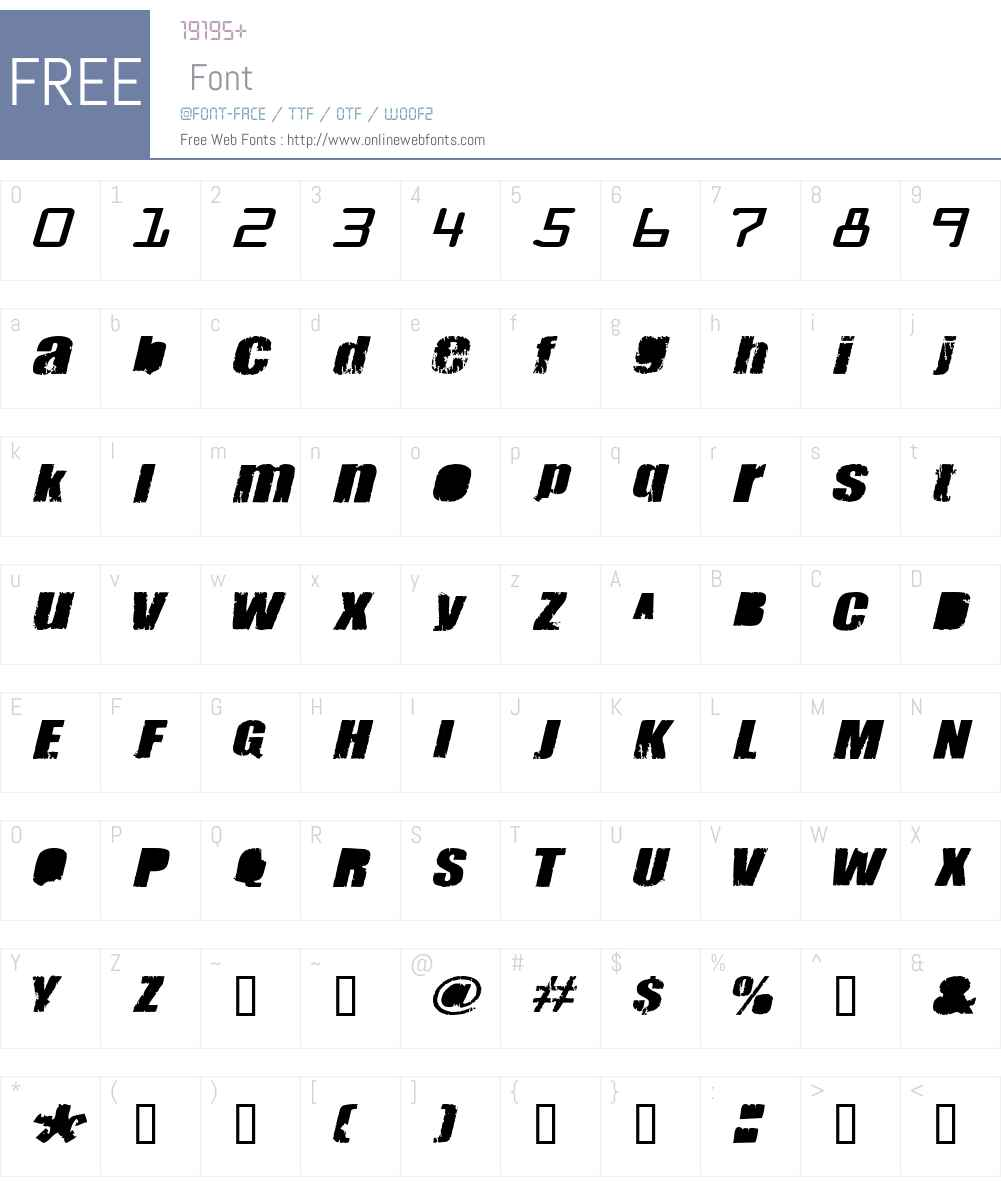 Meanies Font Screenshots