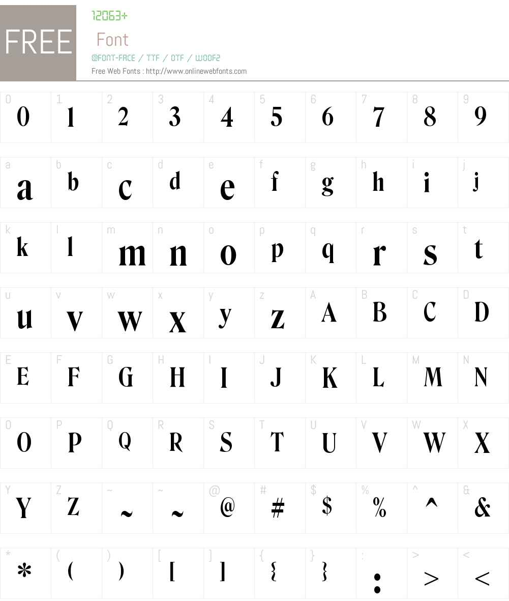 RoslindaleDisplayCondensed Medium Font Screenshots