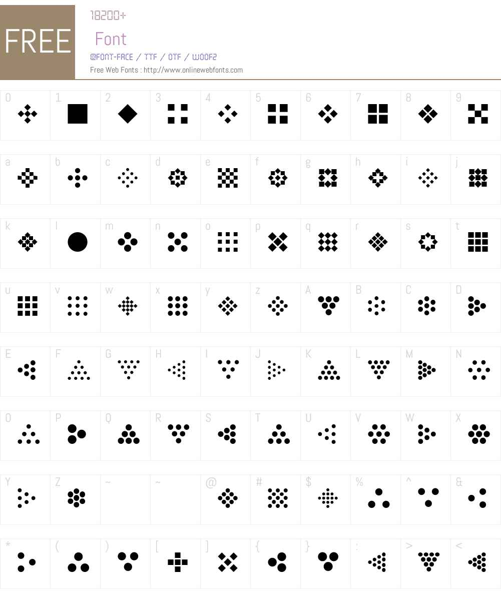 SimpleOrnamentsW95-Regular Font Screenshots