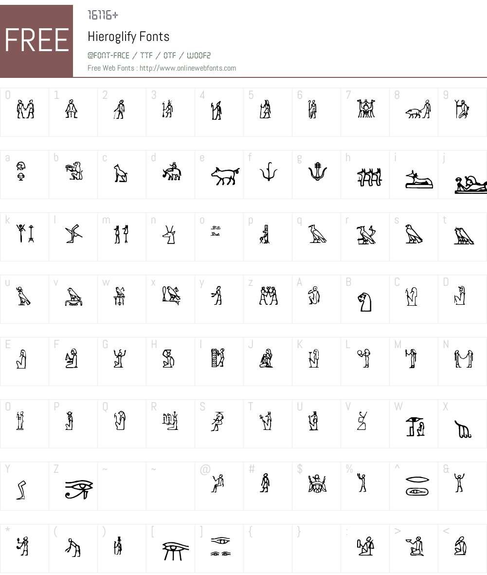 Hieroglify Font Screenshots