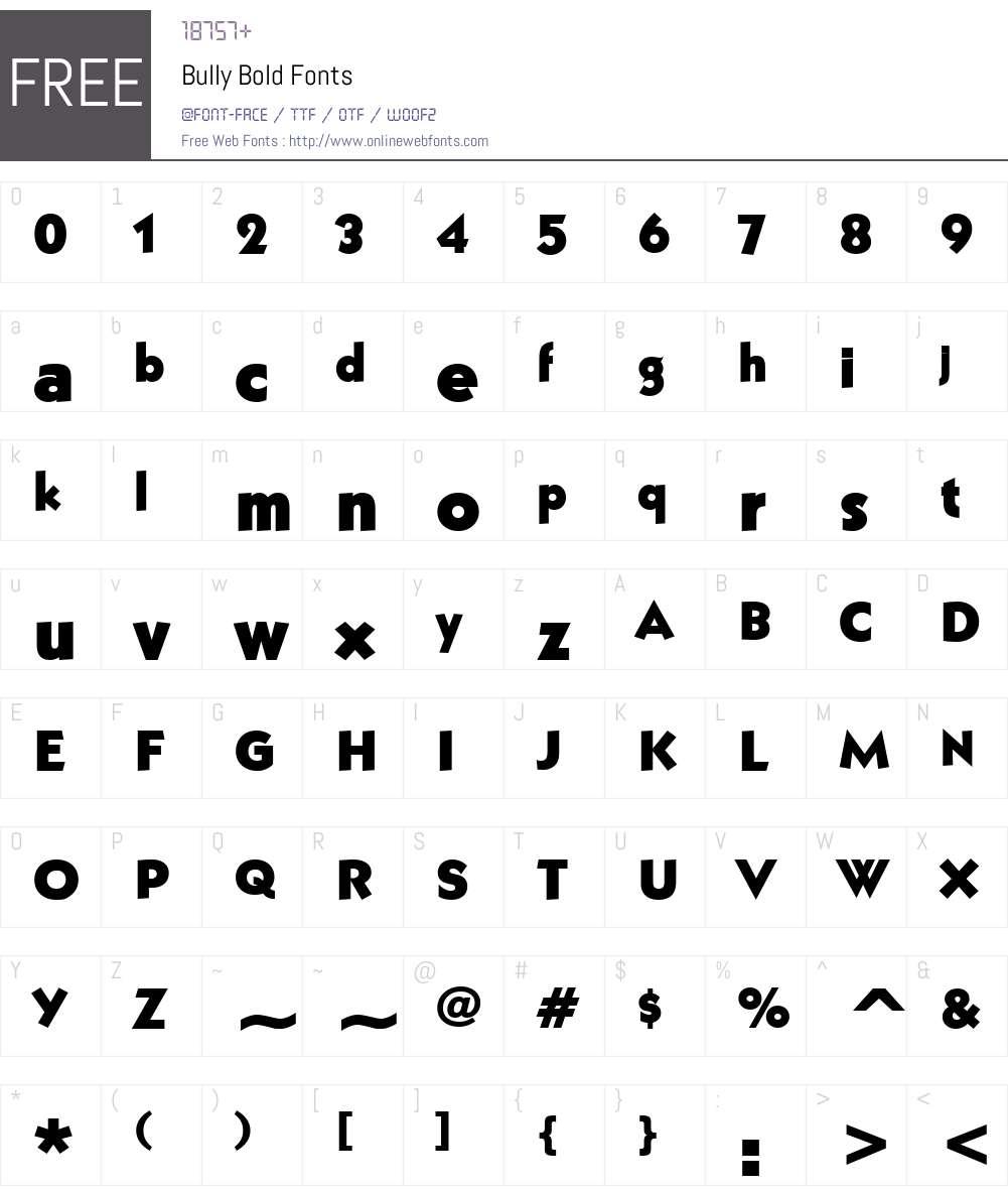 Bully Font Screenshots