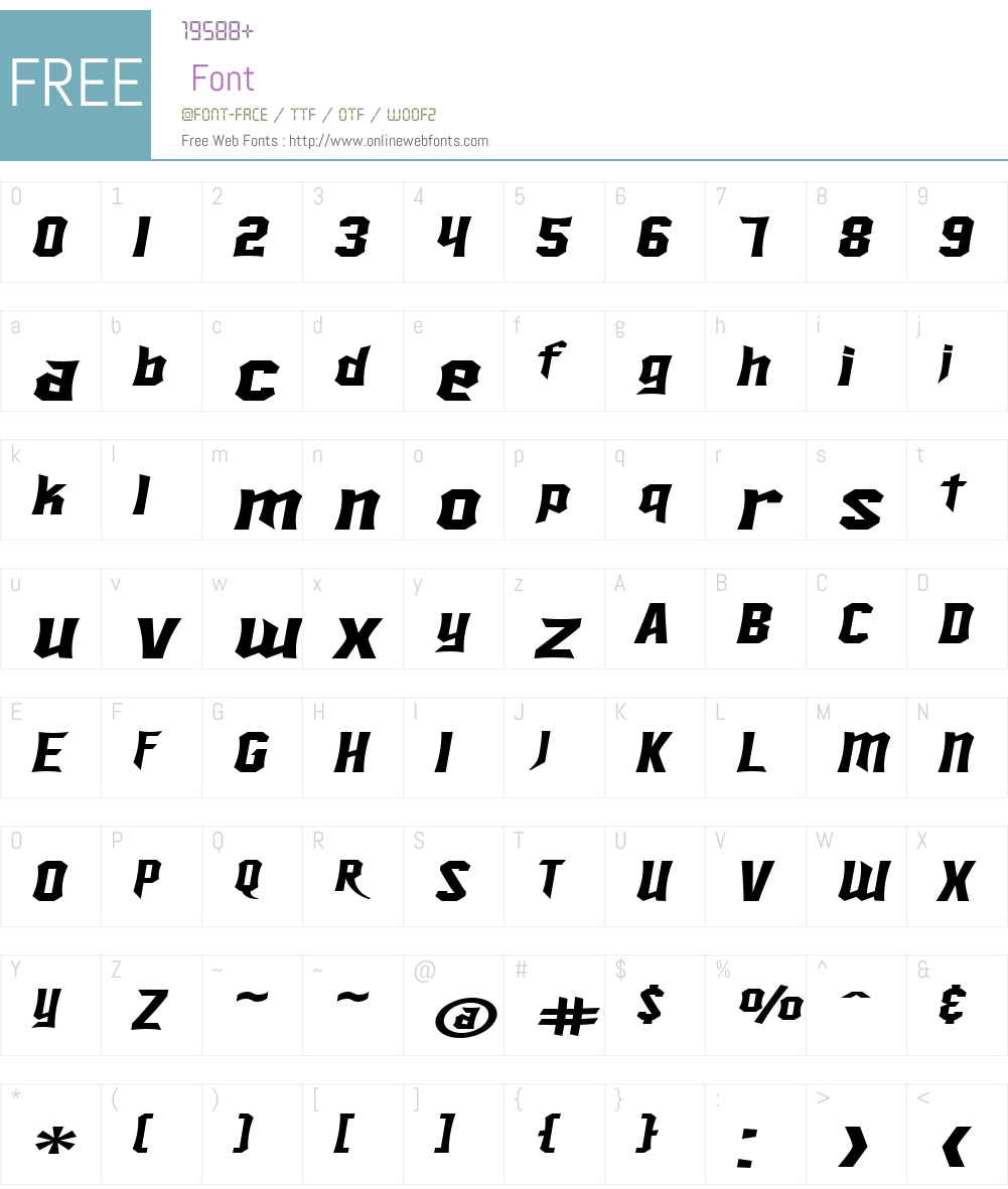 SF Ironsides Extended Font Screenshots