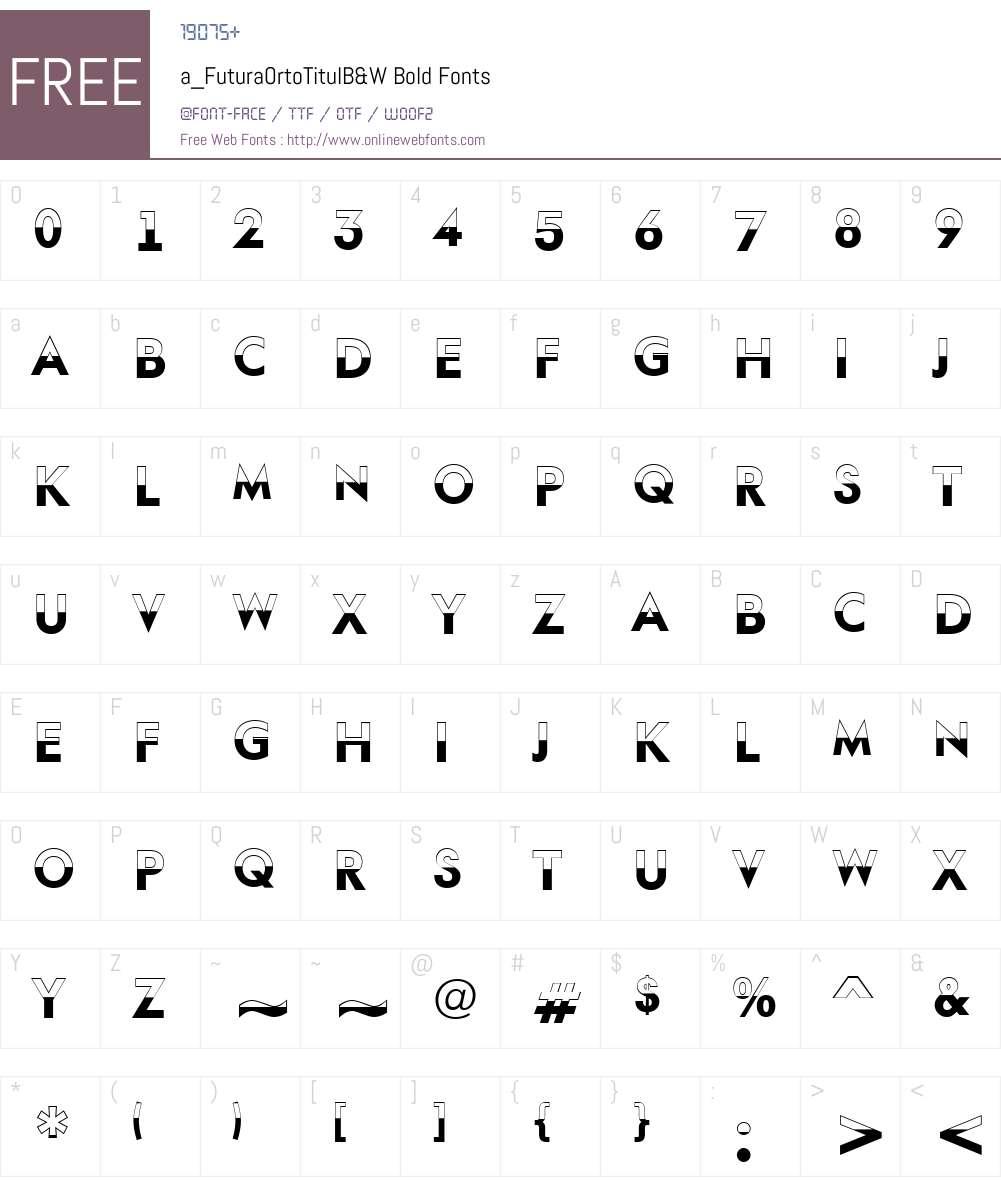 a_FuturaOrtoTitulB&W Font Screenshots