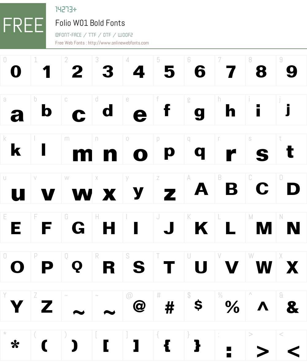 FolioW01-Bold Font Screenshots