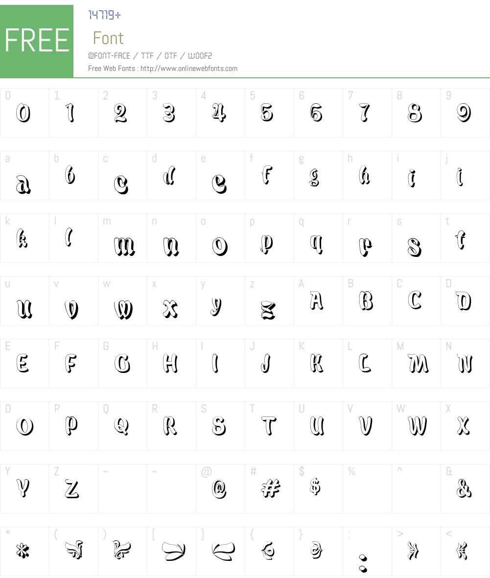 Babalu Shade Font Screenshots