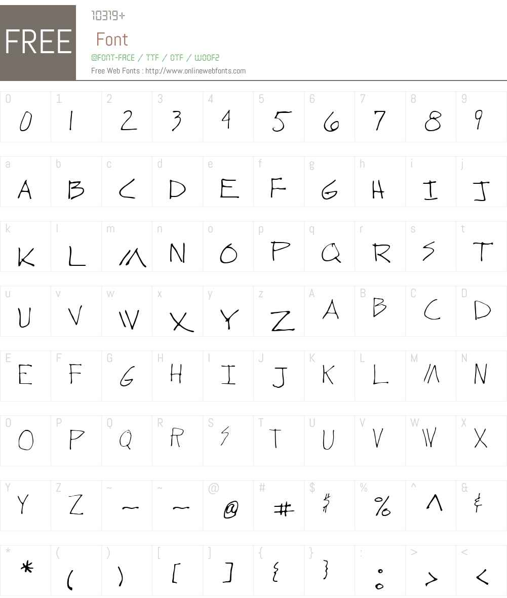 Wundera Font Screenshots