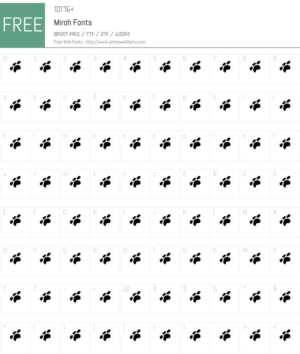 Miroh Font Screenshots
