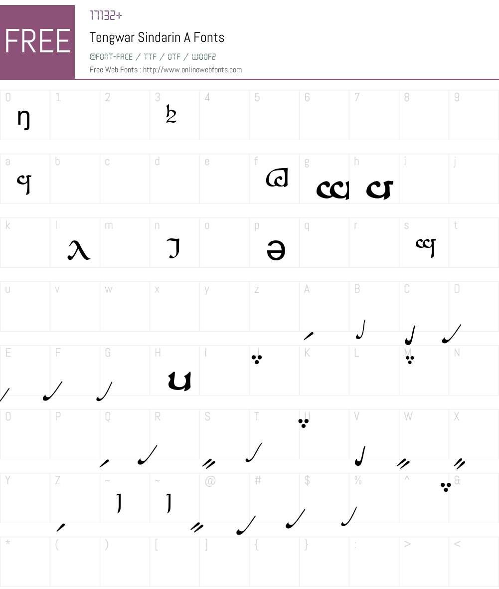 Tengwar Sindarin-A Font Screenshots