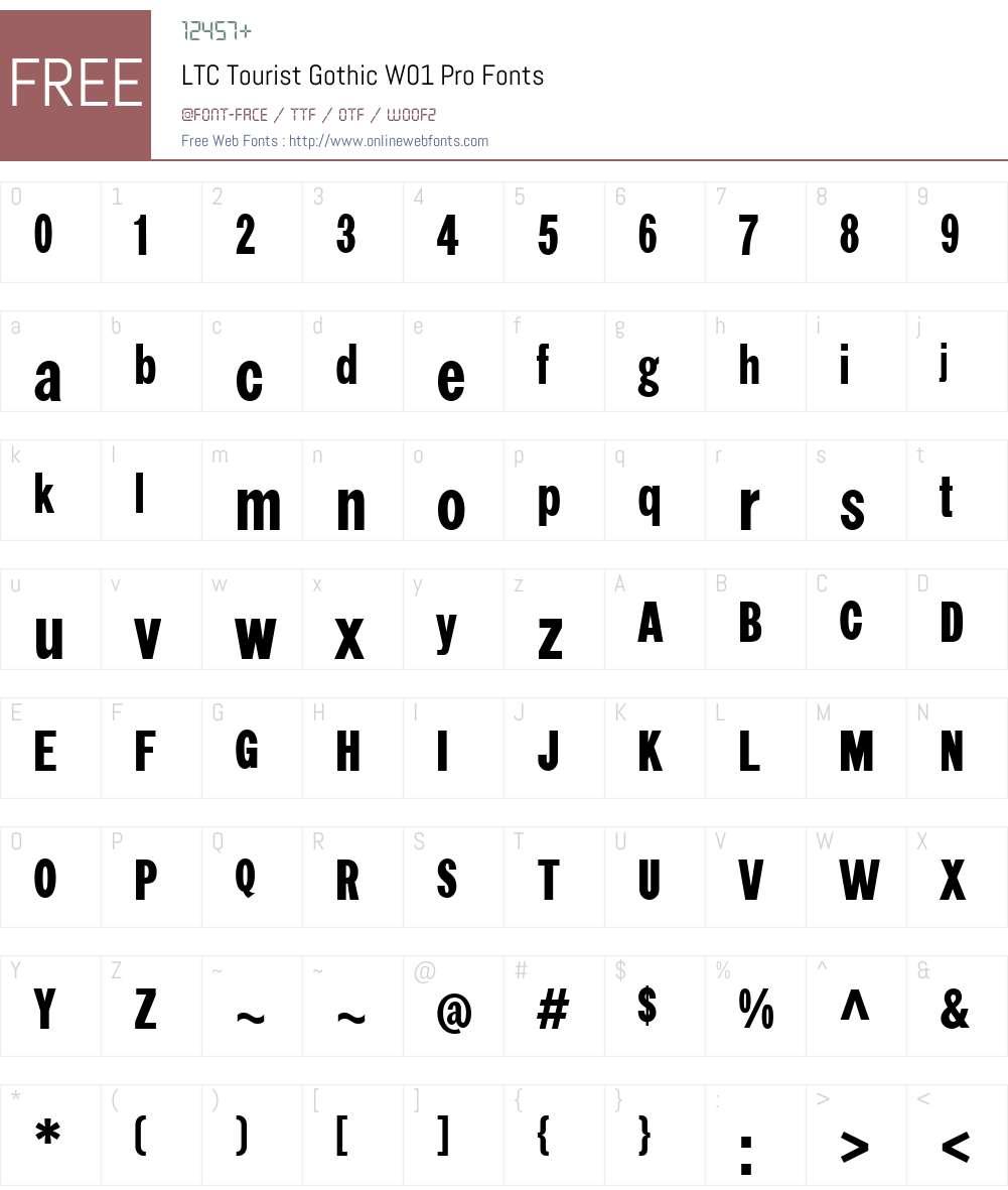 LTCTouristGothicW01-Pro Font Screenshots