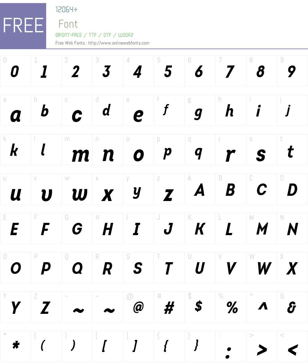 IntroCondBoldItalic Font Screenshots