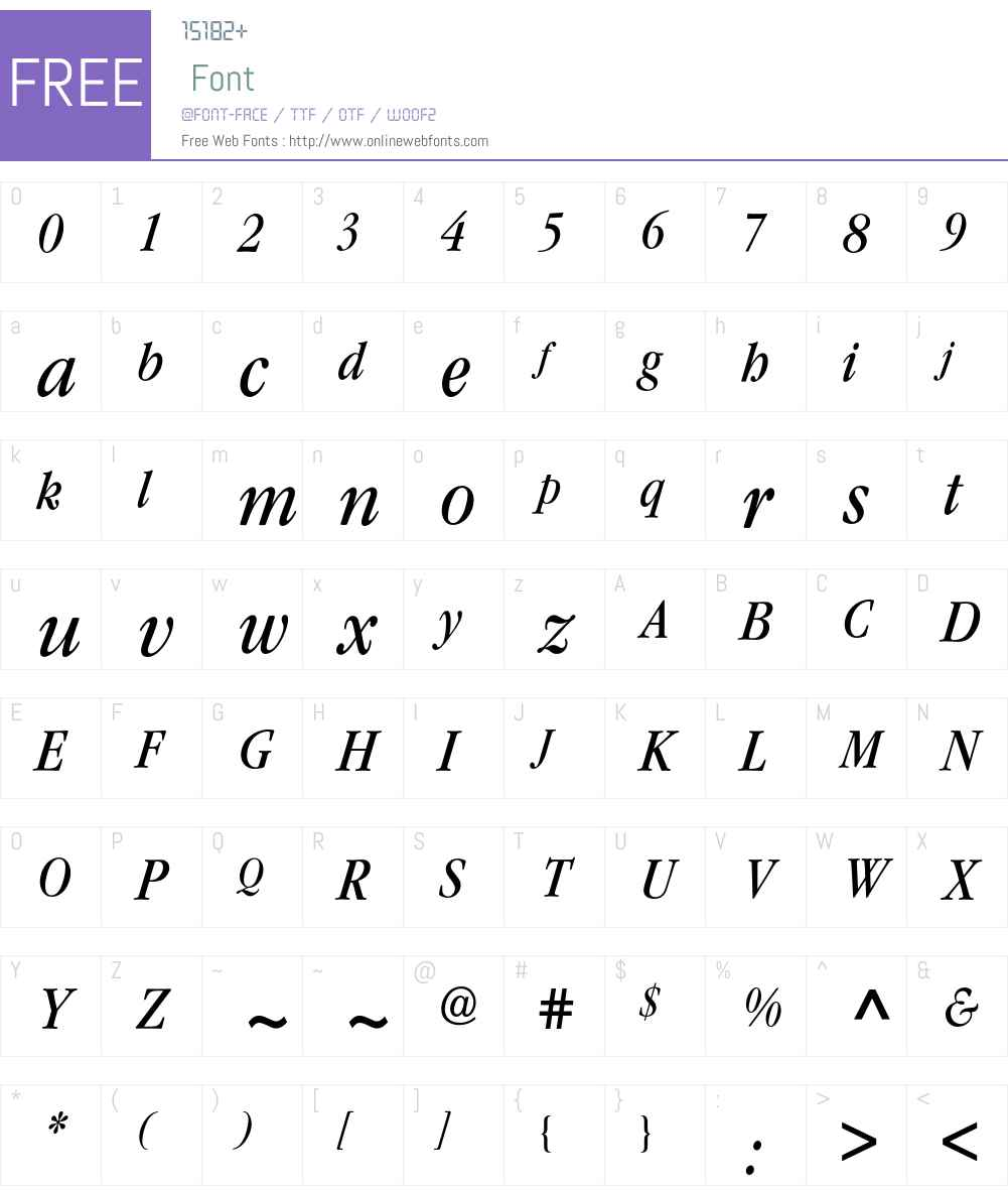 Garamond ITC Condensed BQ Font Screenshots