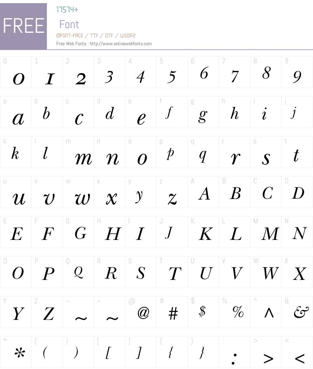 ITC New Baskerville Font Screenshots