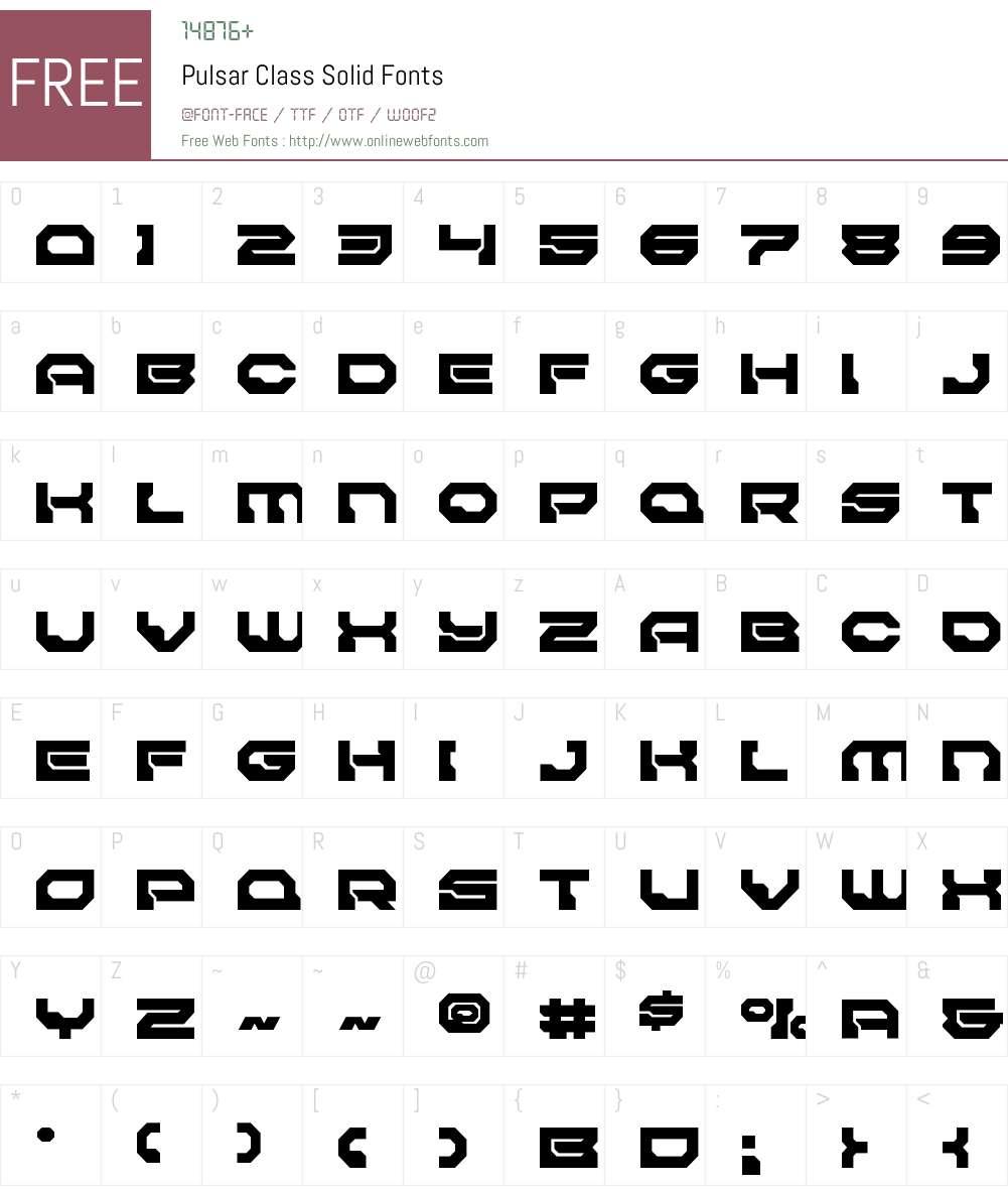 Pulsar Class Solid Font Screenshots