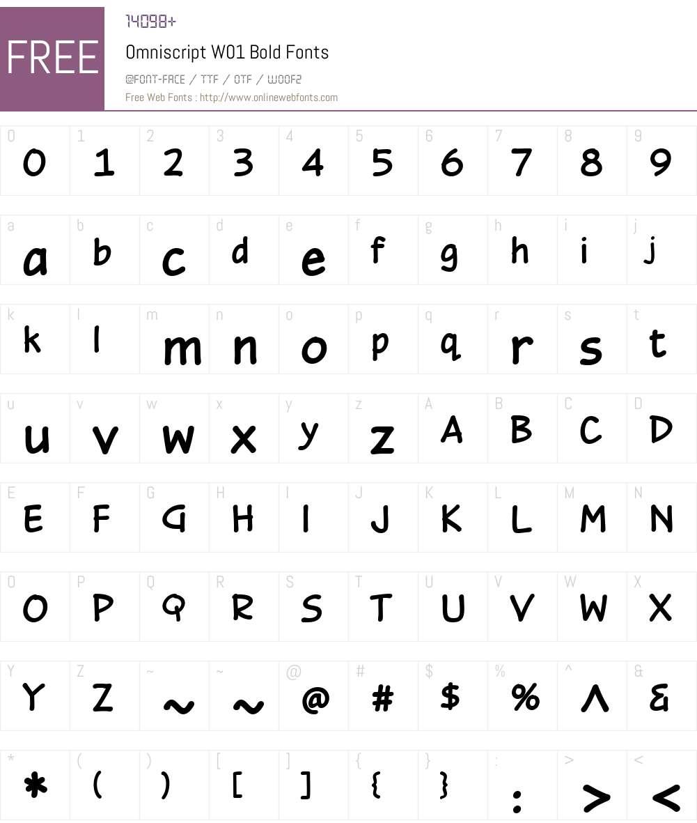 OmniscriptW01-Bold Font Screenshots