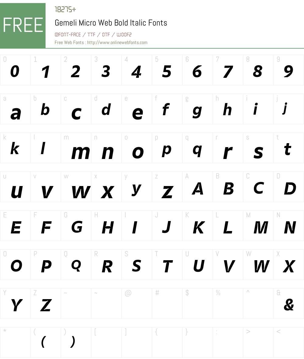 Gemeli Micro Web Font Screenshots