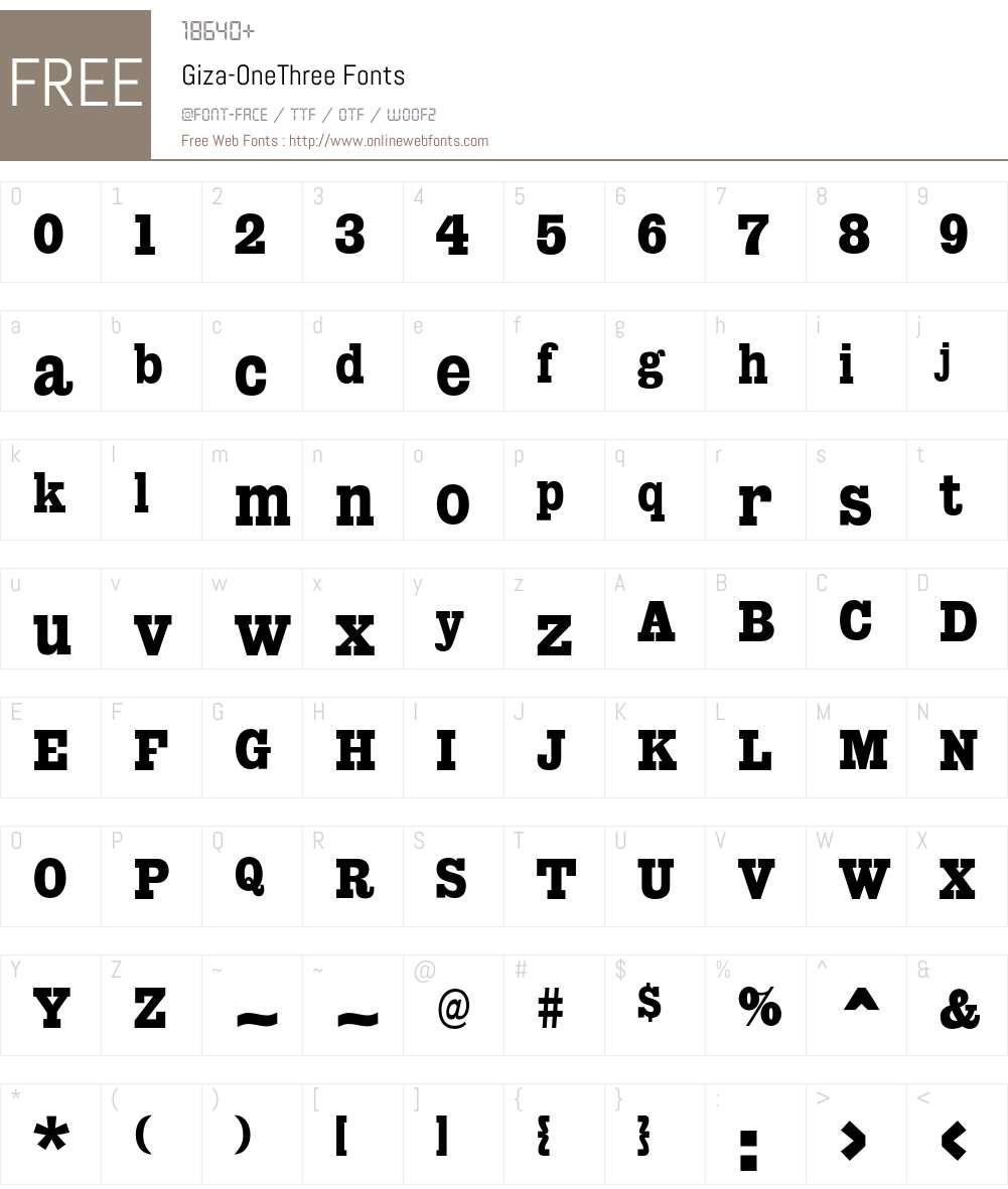 Giza Font Screenshots